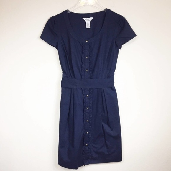 Vintage Lilly Pulitzer | Navy Button Down Dress
